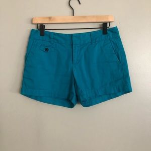 Loft size 0 chino shorts dark teal